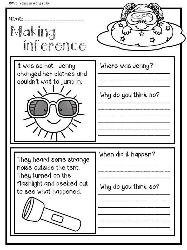Pin On Learn To Read Reading inference worksheets grade