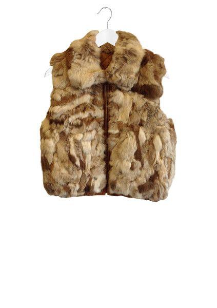 Rabbit Fur Patch Vest