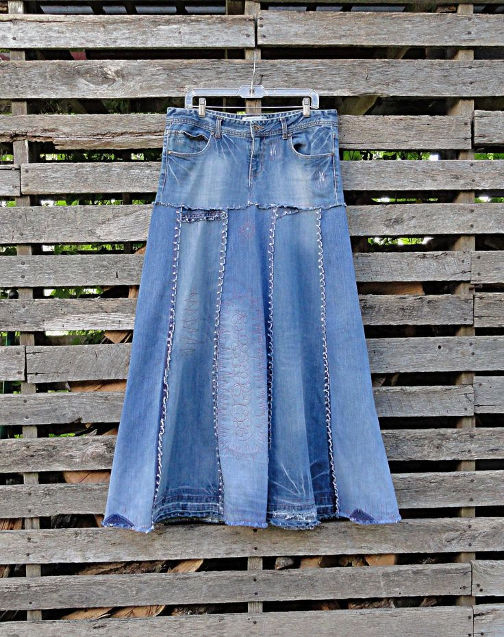 25 great ideas about jean skirts on