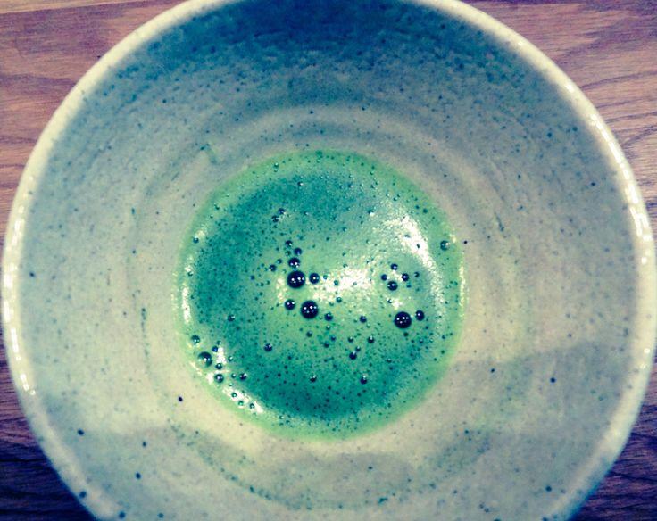 matcha tea at Postcard Teas