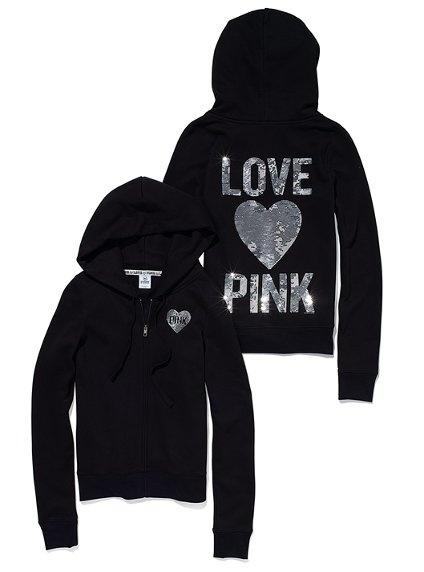 VS Pink bling hoodie. Regular price $80, clearance price $59.