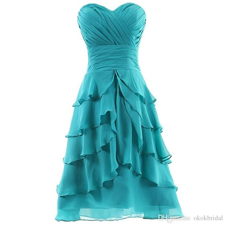 Semi Formal Dresses For Teens 2016 Cheap Blue Homecoming Dress Tiered Short Graduation Dresses Dresses Of 2015 Formal Dresses Long From Okokbridal, $78.56| Dhgate.Com