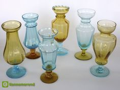 French footed hyacinth vases