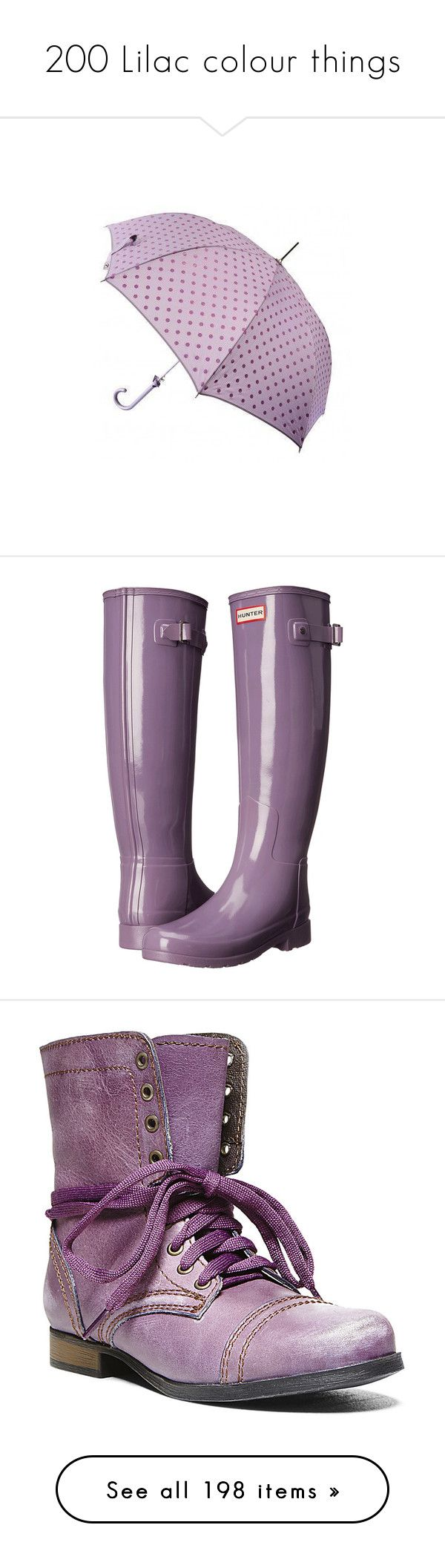 """""""200 Lilac colour things"""" by lorika-borika on Polyvore featuring shoes, boots, multi, hunter boots, rain boots, low heel boots, white rain boots, slip on rubber boots, purple leather и side zip military boots"""