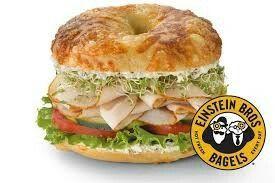 Einstein Bagel - Tasty Turkey on Asiago