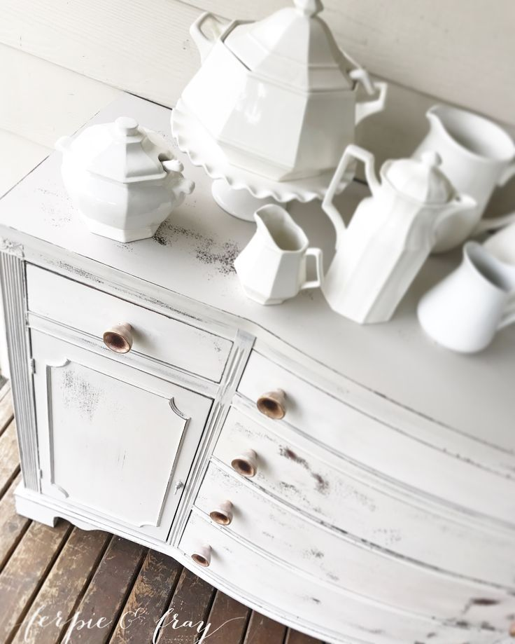 Buffet Painted By Amanda Of Ferpie And Fray In Real Milk Paint Co.  Stillwater Cove