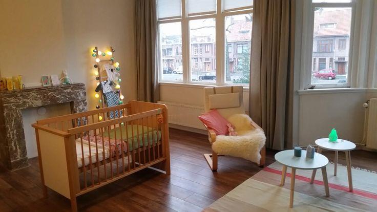 Babykamer #pastelkleuren #mint #roze #beige