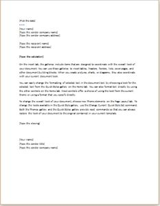 sle business letter for address change change of