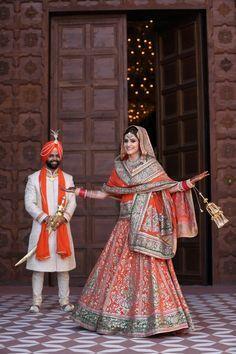 Indian punjabi jatt wedding lehnga traditional sardar happy