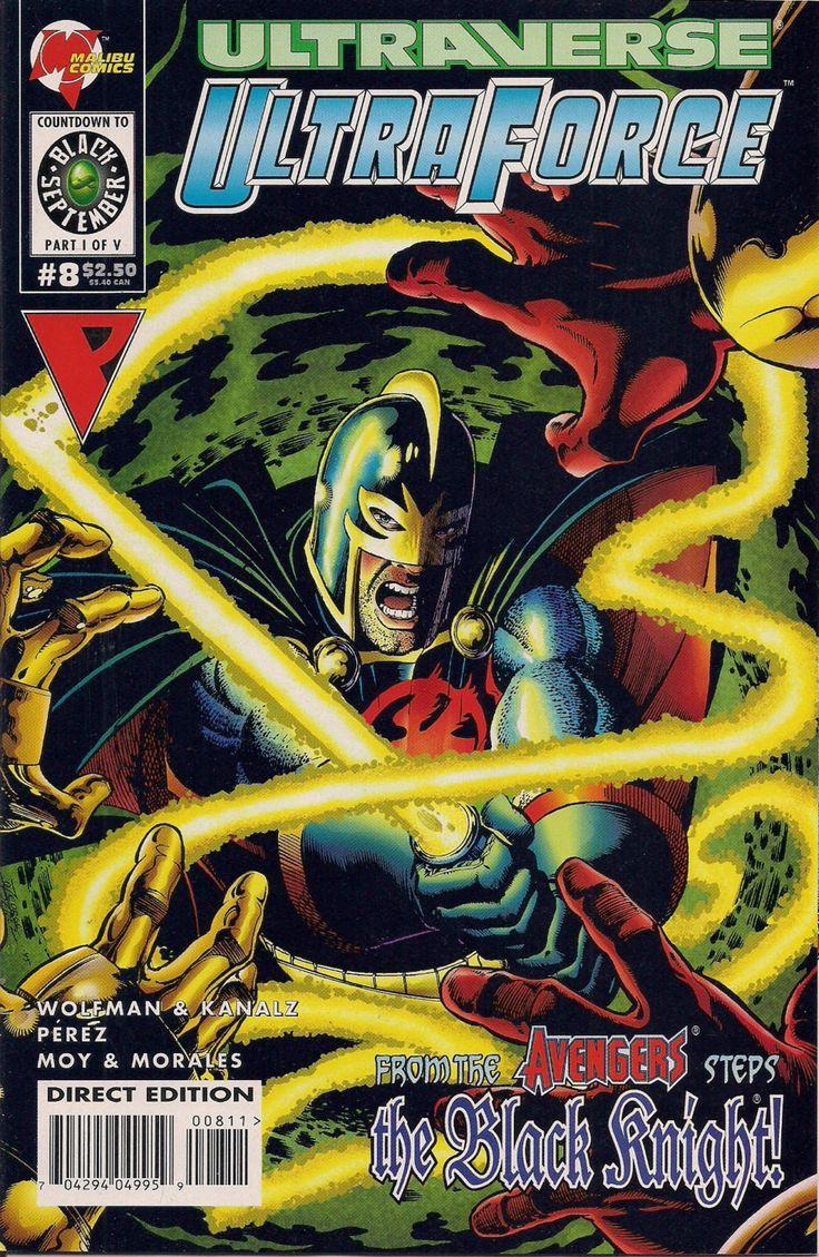 Marvel Comics Black Knight Avengers ULTRAVERSE ULTRAFORCE #8 Malibu Comics Marv Wolfman George Perez