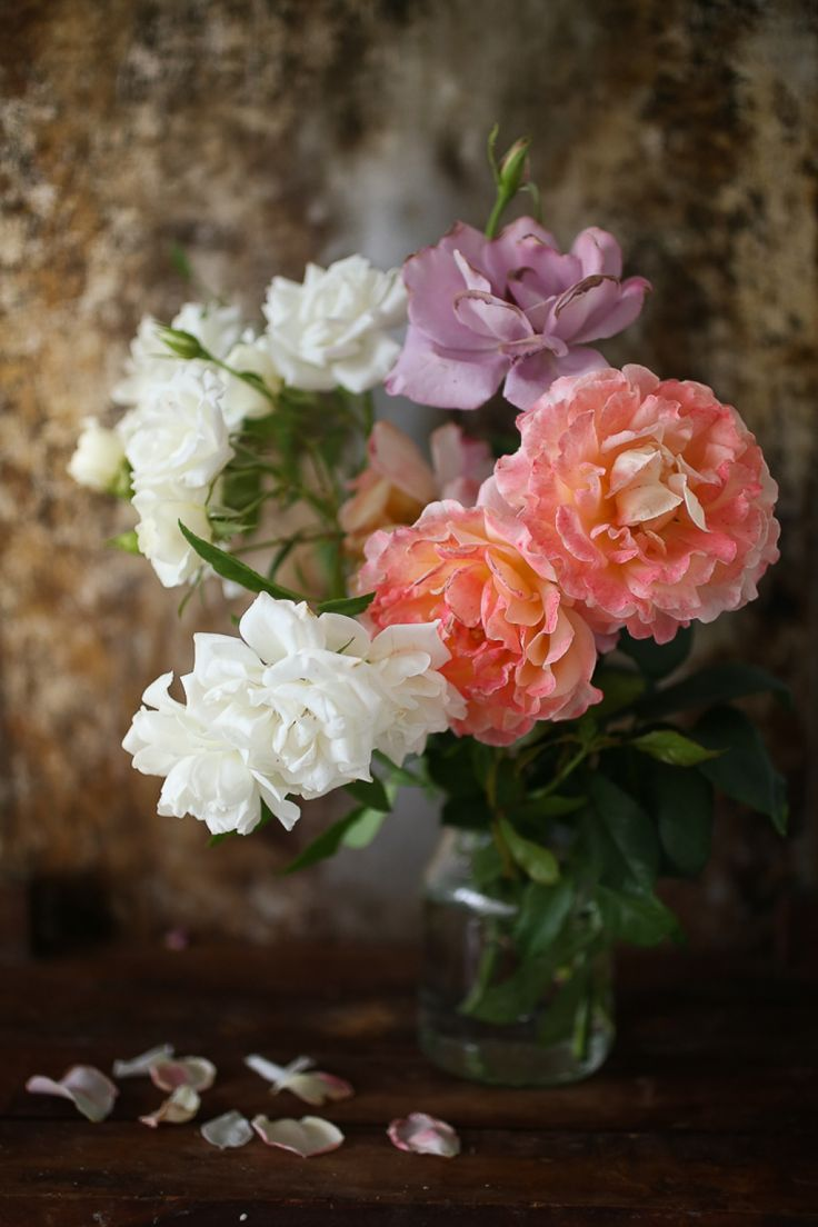 freshly picked flowers from our garden - peonies