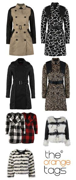 Fashion printed raincoats/gabardines, and lovely fur short ones <3  http://r.ebay.com/xt9rOX khaki raincoat http://r.ebay.com/XKqIah cow print http://r.ebay.com/D53UrM black raincoat  http://r.ebay.com/plIDqV leopard print http://r.ebay.com/k5NqiR square white/red http://r.ebay.com/NUpInV short fur  http://r.ebay.com/6Dm2gw  short fur stripes