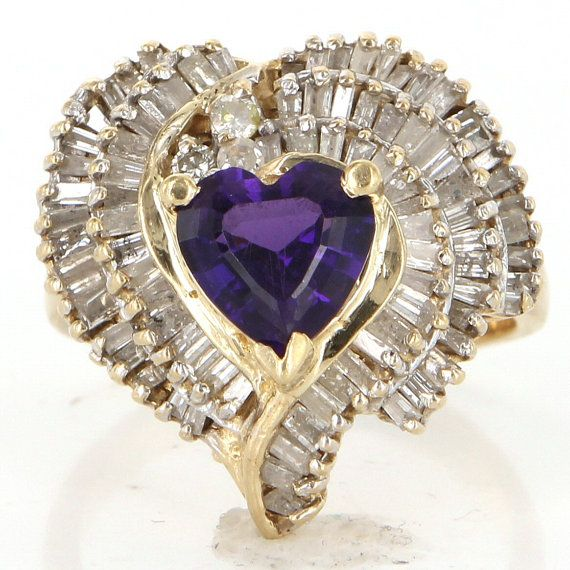 Heart Diamond Ring Yellow Gold