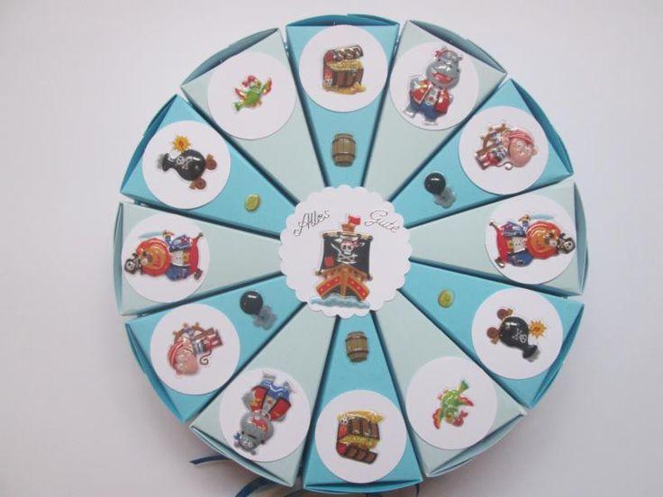 Torte / Gastgeschenk zum Kindergeburtstag, Piraten von Deko-Ideenreich auf DaWanda.com