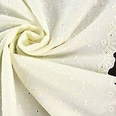 Batist Stickerei mit Bordüre wollweiss