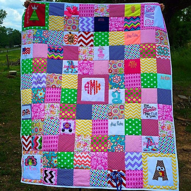 Monogramed Clothing From Birth To One Year Old Quilt