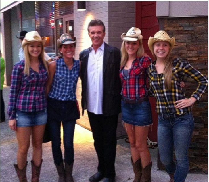 Alan Thicke dropped by our London location and posed with our cowgirls