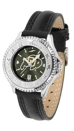University of Colorado Buffaloes Ladies Leather Wristwatch