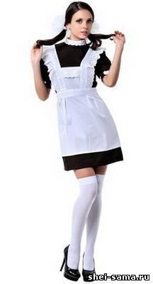 Школьное платье фартук