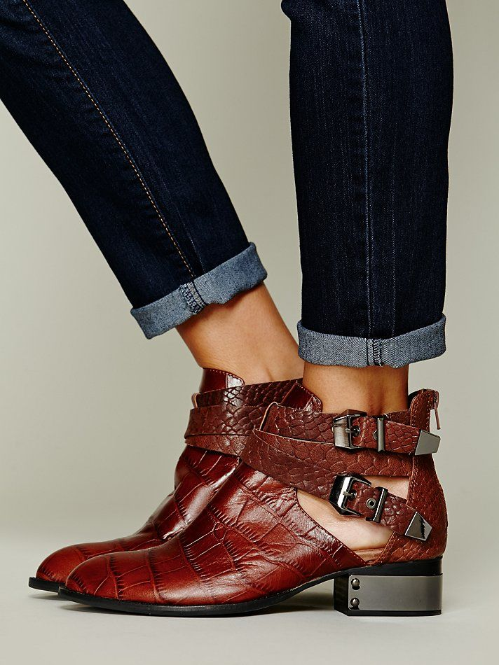 Free People Overland Croc Ankle Boot, C235.62
