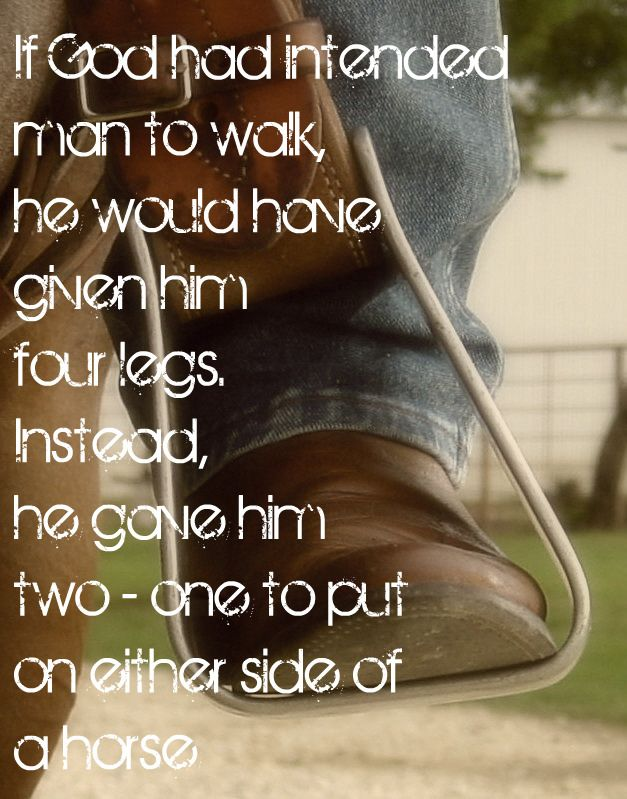 If God had intended man to walk he would have given him