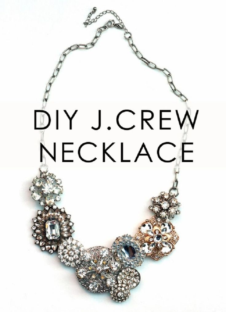 Diy J Crew Crystal Flower Lattice Statement Necklace