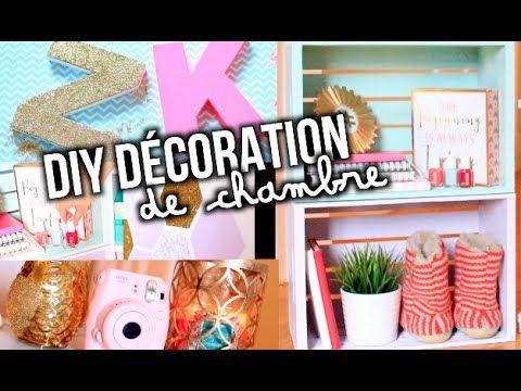 DIY DÉCORATION DE CHAMBRE! CUTE + FACILE!!   Emma Verde - YouTube