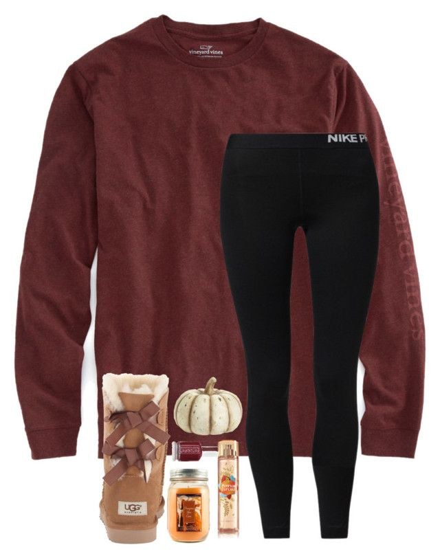 """•October 3rd•"" by simply-preppy-girl ❤ liked on Polyvore featuring Vineyard Vines, NIKE, UGG Australia, Holiday Memories, K&K Interiors and Essie"