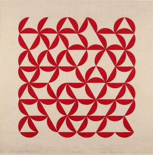 (via Geometry / Willys De Castro - Study For Painting No. 112 (1956))