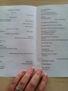 Free Catholic Wedding Program Template photo | The Budget Savvy Bride