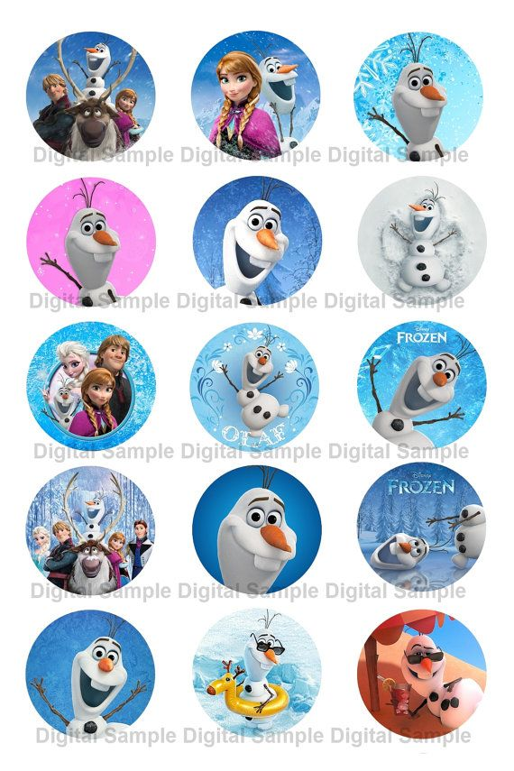 Disney Frozen Olaf Elsa Anna Frozen Party Bottle By