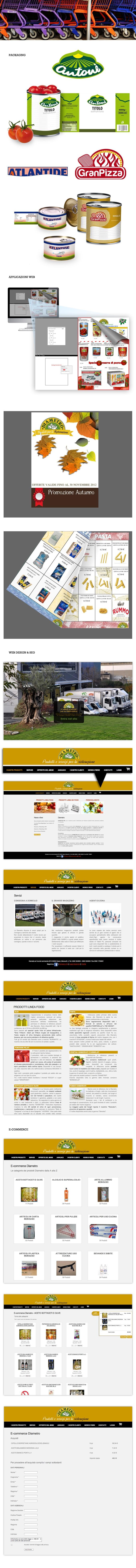DIAMETRO SRL - Web design, SEO, Applicazioni Web, Naming, Packaging, E-commerce - Una Applicazione Web a portata di mano? Noi l'abbiamo realizzata su misura. Diametro può aggiornare in modo dinamico e veloce i cataloghi delle offerte da pubblicare sul web e da stampare in Alta risoluzione. Questa Applicazione gli permette di avere un database aggiornabile dei prodotti e di gestire la fatturazione. Abbiamo curato la sua immagine sul Web e ci stiamo occupando della creatività del packaging
