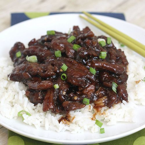 Mongolian Beef- SOSOSO yummy, it tasted like it was from a Chinese restaurant! quick, cheap, and easy!