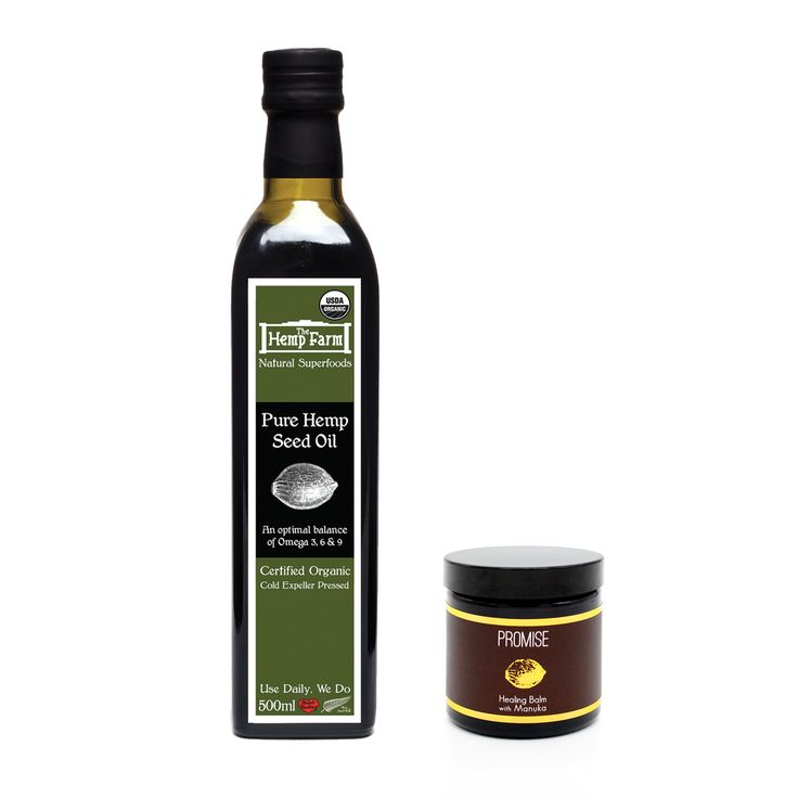 Hemp Seed Oil and Promise Balm Combo