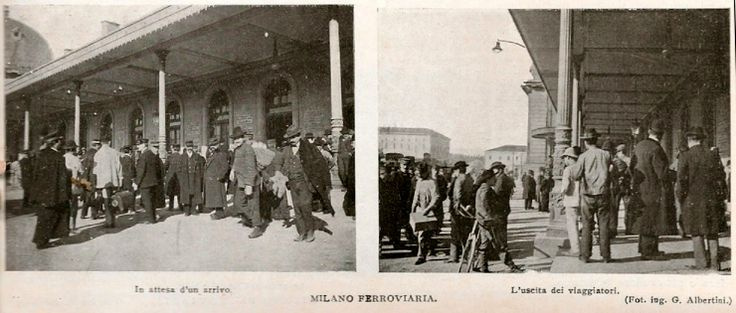 People outside the old Milan Central Station