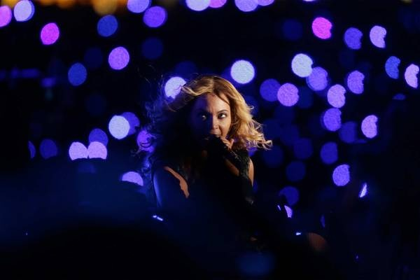 Super Bowl Halftime Show Featuring Beyonce(24 images)  Updated Feb 3, 2013 11:21 PM ET  21 of 24Those eyes Wowing the crowd with her looks and her voice, Beyonce made the Superdome her sanctuary.      Matt Slocum - AP Images