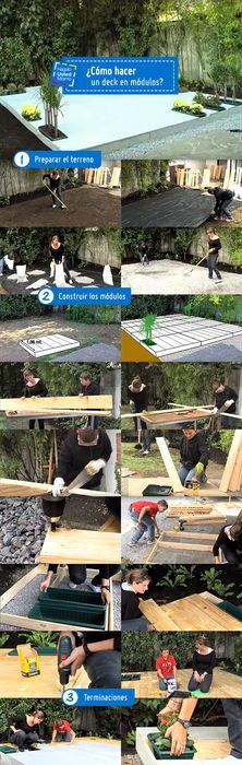 ¿Cómo hacer un deck en módulos?, conoce este nuevo Hágalo Usted Mismo #Sodimac #Homecenter #Hum