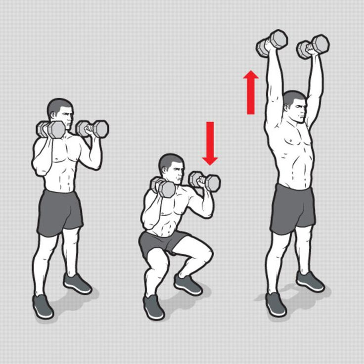 Dumbbell Squat and Press