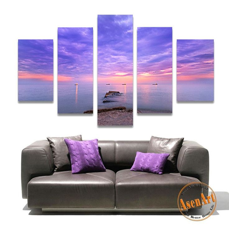 5 Panel Seaside Painting Picture Wall Art Canvas Prints Wall Paintings for Bedrooms Home Decor Unframed