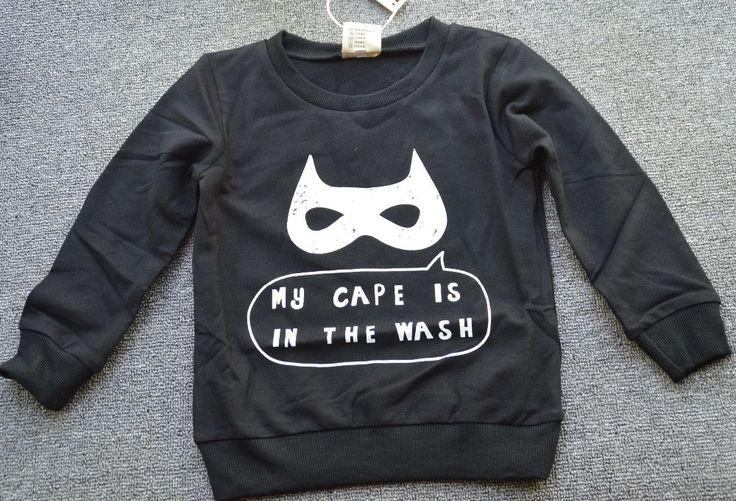 Kids-Boys Cotton Batman Black Mask Sweater