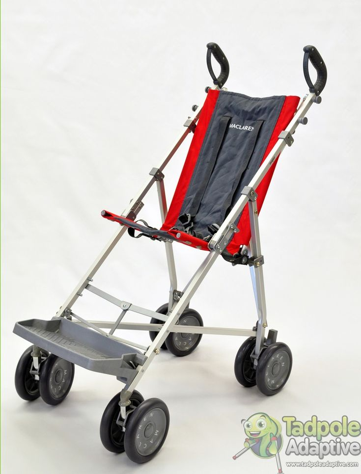 Maclaren   Major Push Chair   Tadpole Adaptive ~ The Maclaren Major is a favorite because it folds easily.  Popular for families with kid who walk... until they don't... Keep it in the back of the car for days when walking just isn't going to happen.