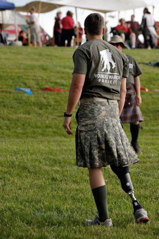 Wounded Warrior kilt     Yeah!   This one man that can pull it off!    go dude!