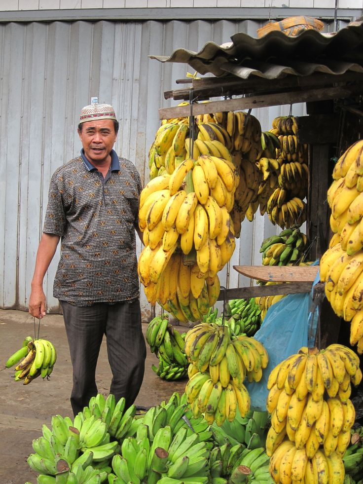 In every market in Indonesia… banana is every where and many kind