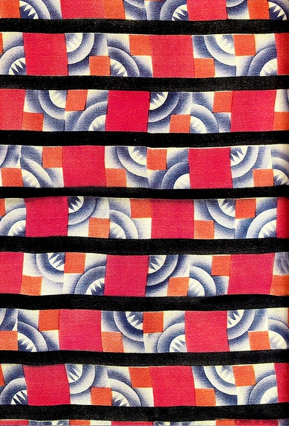 Wiener Werkstätte fabric called 'Paul' designed in 1927 in Vienna by Clara Posnanski