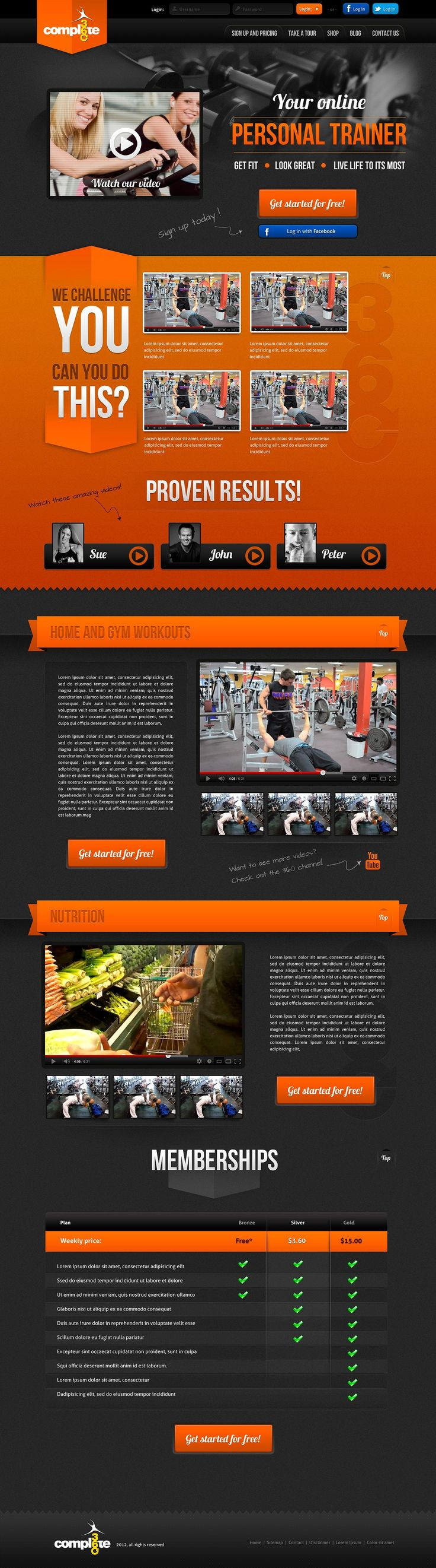Complete 360 - Fitness UI Design by shresthasans on @creativemarket