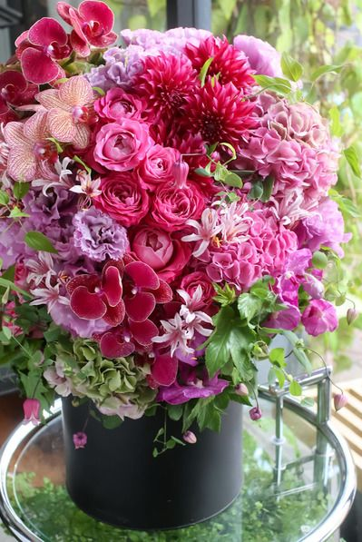 Flower Arrangement - pink, lavender, green
