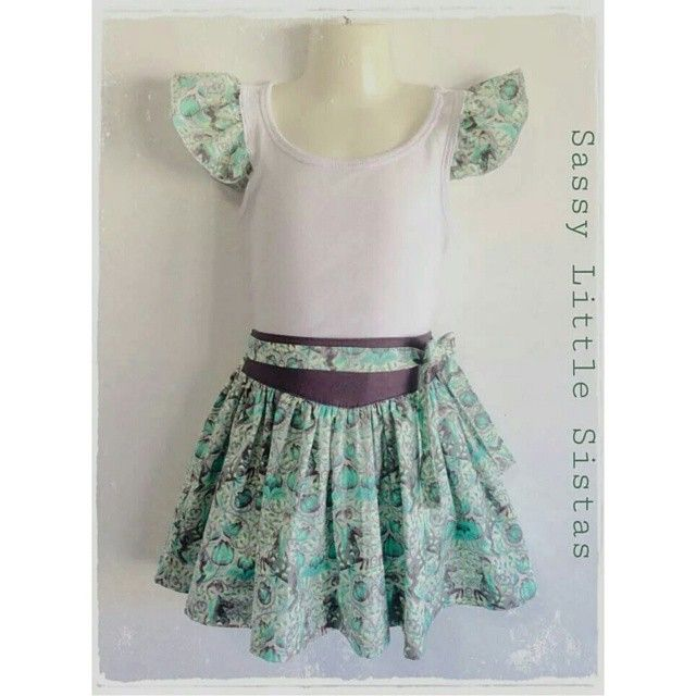#ShareIG ♡ AVAILABLE FOR PURCHASE ♡ Girls SIZE 8 $50 set if you would like you would like to purchase, head over to our Facebook page for details www.facebook.com/sassylittlesistas  #sassylittlesistas #tulapink #handmade #handmadeinoz #handmadekids #skirt #fabric