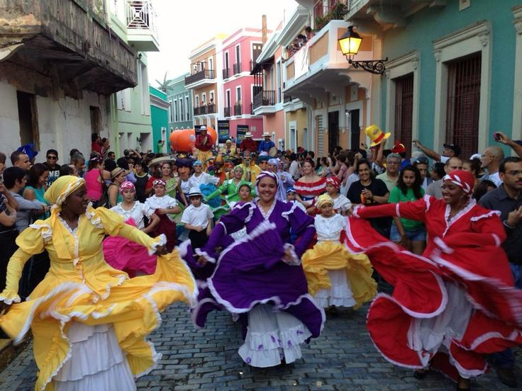 Fiestas de San Sebastian in Old San Juan, Puerto Rico Note to self: don't go then - look at the crowds! Description from pinterest.com. I searched for this on bing.com/images