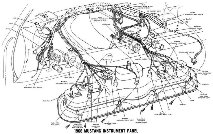 67 Mustang Engine Wiring Diagram and Mustang Wiring