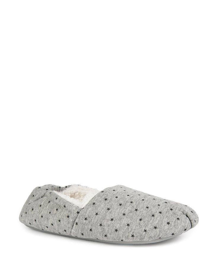 Fur Lined Pump Slippers